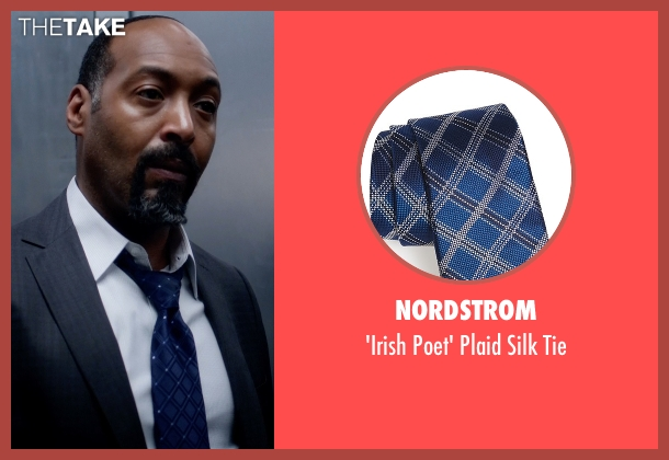 Nordstrom blue tie from The Flash seen with Detective Joe West (Jesse L. Martin)