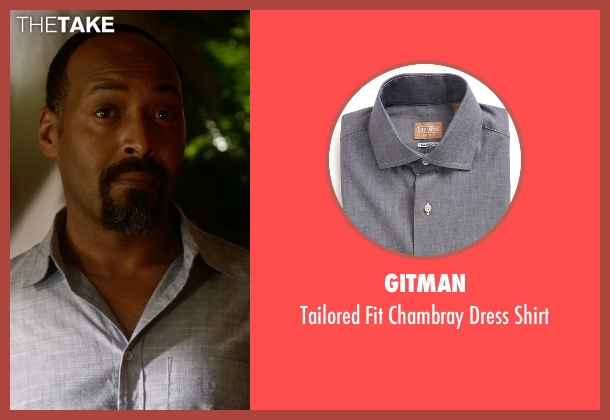 Gitman gray shirt from The Flash seen with Detective Joe West (Jesse L. Martin)