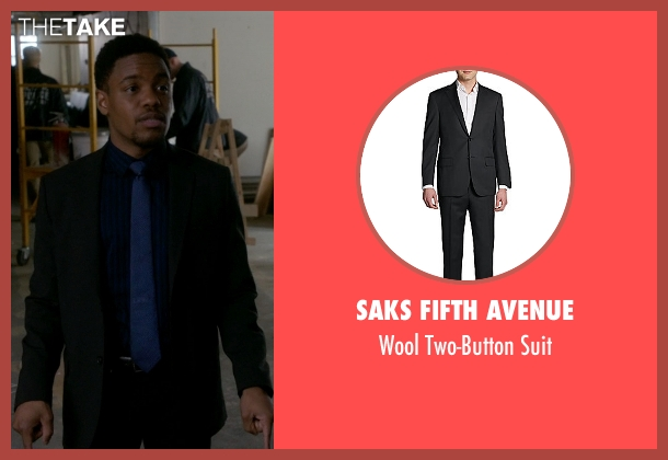 Saks Fifth Avenue black suit from Elementary seen with Detective Marcus Bell (Jon Michael Hill)
