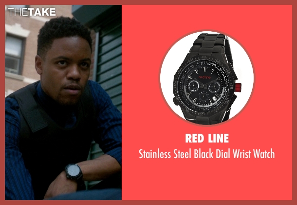 Red Line black watch from Elementary seen with Detective Marcus Bell (Jon Michael Hill)