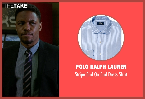 Polo Ralph Lauren blue shirt from Elementary seen with Detective Marcus Bell (Jon Michael Hill)