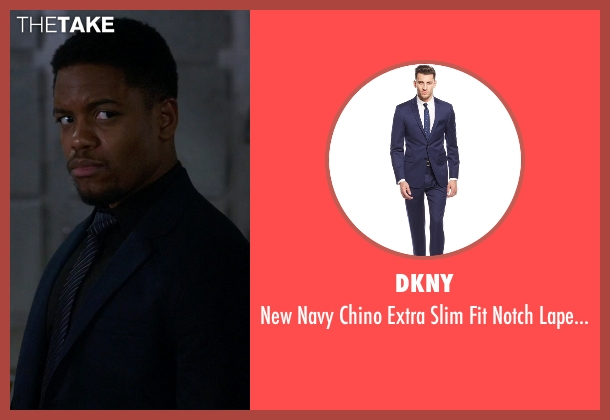 DKNY blue suit from Elementary seen with Detective Marcus Bell (Jon Michael Hill)