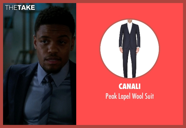 Canali blue suit from Elementary seen with Detective Marcus Bell (Jon Michael Hill)