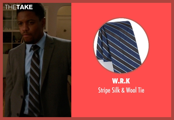 W.R.K blue tie from Elementary seen with Detective Marcus Bell (Jon Michael Hill)