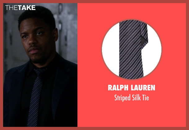 Ralph Lauren blue tie from Elementary seen with Detective Marcus Bell (Jon Michael Hill)