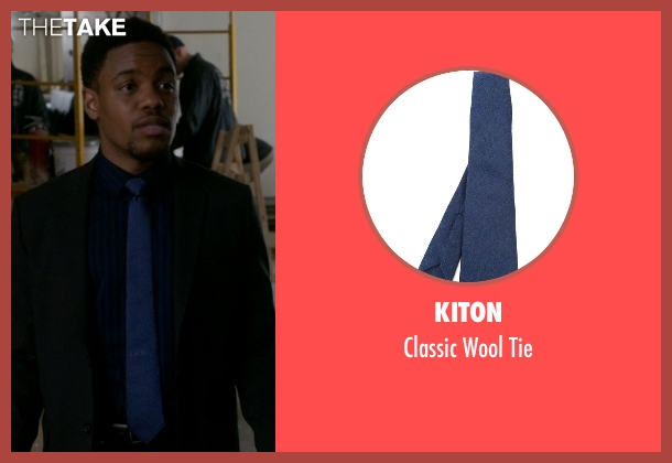 Kiton blue tie from Elementary seen with Detective Marcus Bell (Jon Michael Hill)