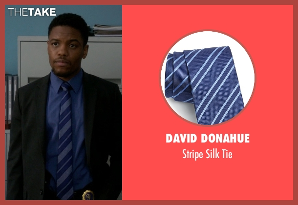 David Donahue blue tie from Elementary seen with Detective Marcus Bell (Jon Michael Hill)