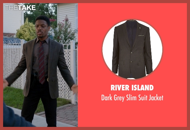 River Island gray jacket from Elementary seen with Detective Marcus Bell (Jon Michael Hill)
