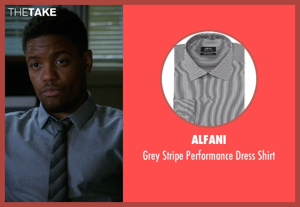 Alfani gray shirt from Elementary seen with Detective Marcus Bell (Jon Michael Hill)