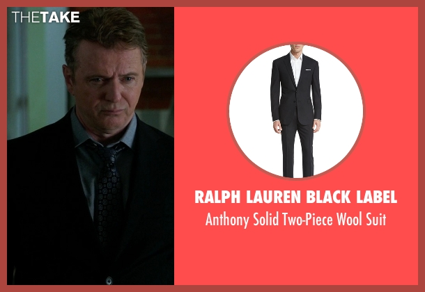 Ralph Lauren Black Label gray suit from Elementary seen with Detective Marcus Bell (Jon Michael Hill)
