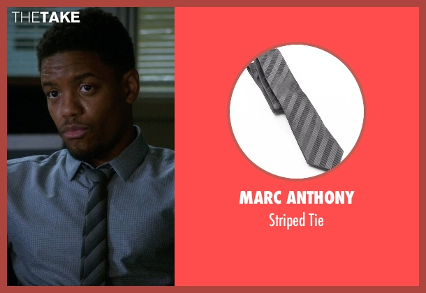 Marc Anthony gray tie from Elementary seen with Detective Marcus Bell (Jon Michael Hill)