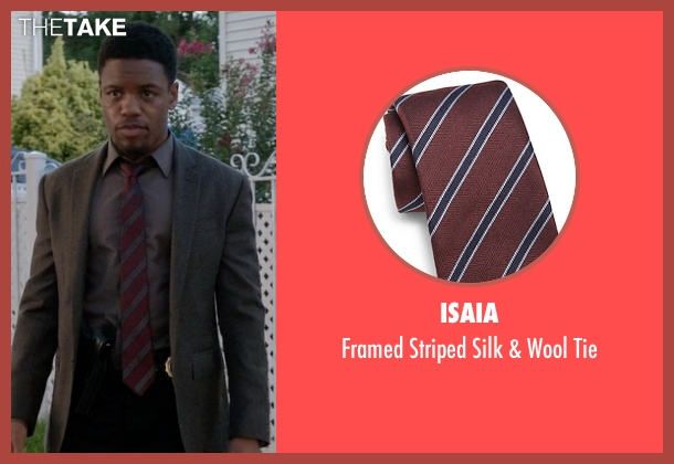 Isaia red tie from Elementary seen with Detective Marcus Bell (Jon Michael Hill)