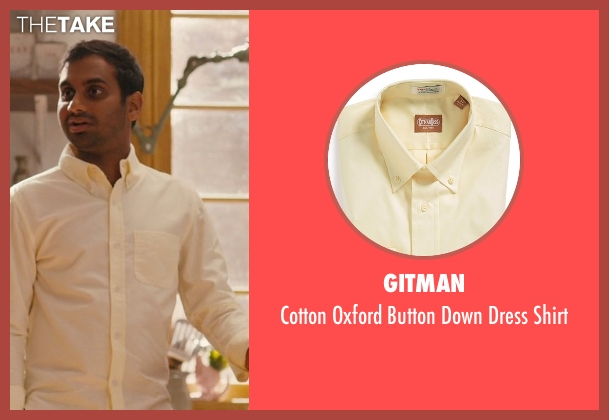 Gitman beige shirt from Master of None seen with Dev (Aziz Ansari)