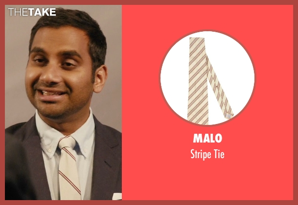 Malo beige tie from Master of None seen with Dev (Aziz Ansari)