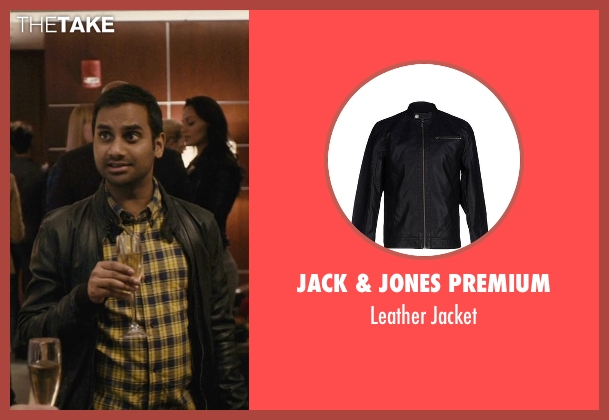 Jack & Jones Premium black jacket from Master of None seen with Dev (Aziz Ansari)