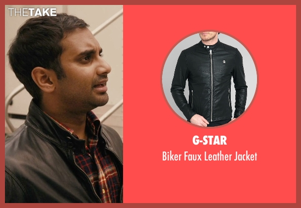 G-Star black jacket from Master of None seen with Dev (Aziz Ansari)