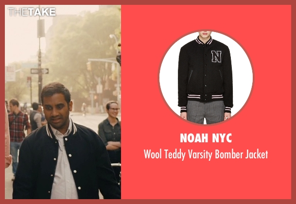 Awdis black jacket from Master of None seen with Dev (Aziz Ansari)