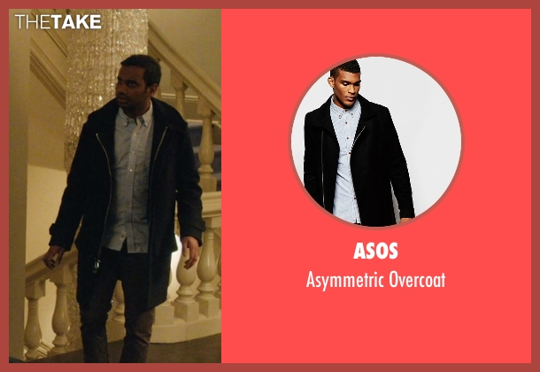 Asos black overcoat from Master of None seen with Dev (Aziz Ansari)