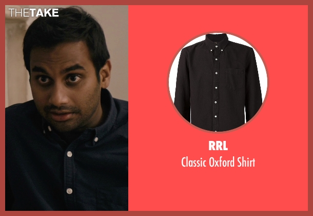 RRL black shirt from Master of None seen with Dev (Aziz Ansari)