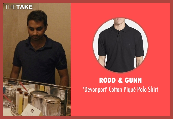 Rodd & Gunn black shirt from Master of None seen with Dev (Aziz Ansari)