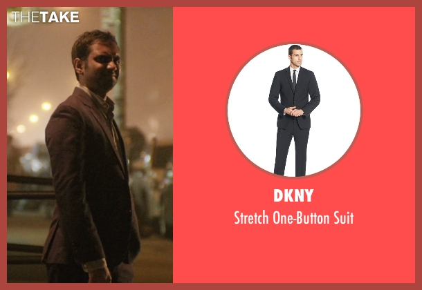 DKNY black suit from Master of None seen with Dev (Aziz Ansari)