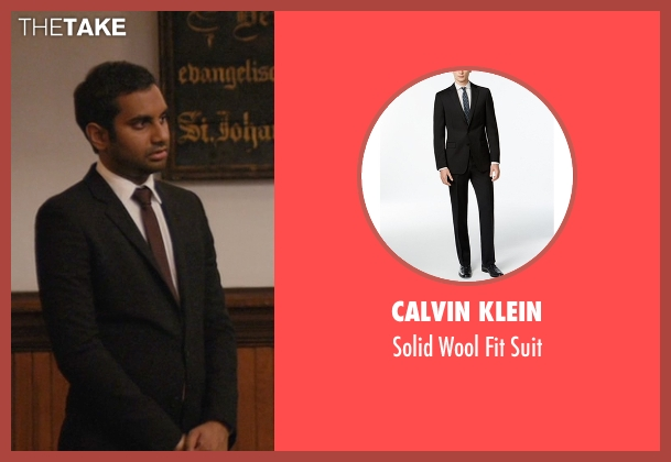 Calvin Klein black suit from Master of None seen with Dev (Aziz Ansari)