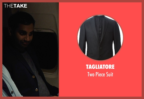 Tagliatore black suit from Master of None seen with Dev (Aziz Ansari)