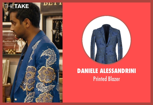 Daniele Alessandrini blue blazer from Master of None seen with Dev (Aziz Ansari)