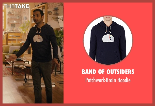 Band Of Outsiders blue hoodie from Master of None seen with Dev (Aziz Ansari)