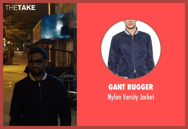 Gant Rugger blue jacket from Master of None seen with Dev (Aziz Ansari)