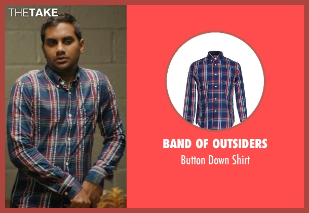 Band Of Outsiders blue shirt from Master of None seen with Dev (Aziz Ansari)