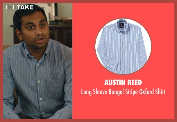 Austin Reed blue shirt from Master of None seen with Dev (Aziz Ansari)