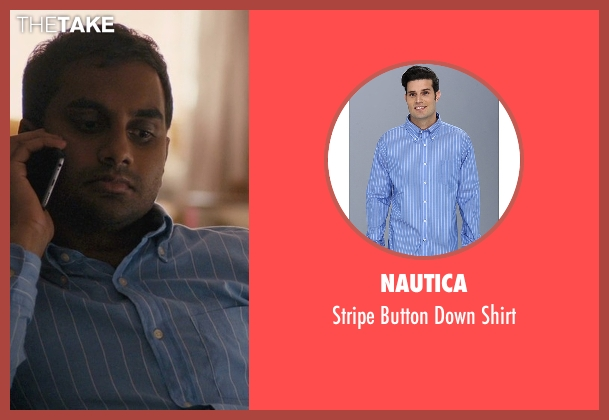 Nautica blue shirt from Master of None seen with Dev (Aziz Ansari)