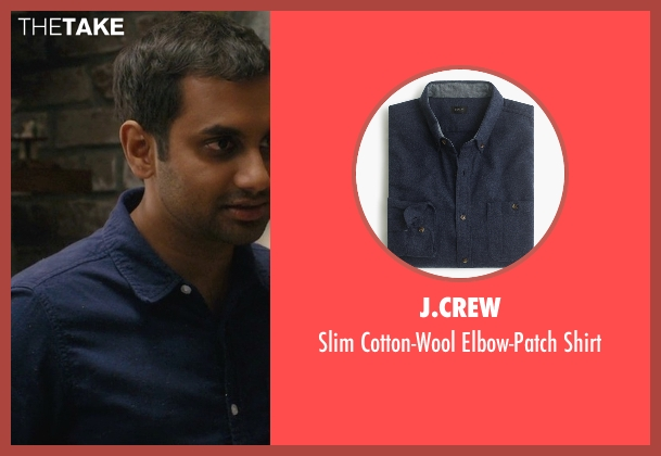 J.Crew blue shirt from Master of None seen with Dev (Aziz Ansari)