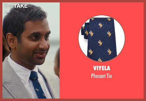 Viyela blue tie from Master of None seen with Dev (Aziz Ansari)