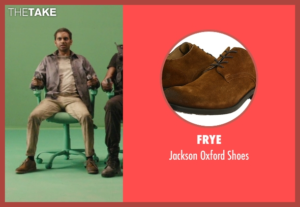 Frye brown shoes from Master of None seen with Dev (Aziz Ansari)