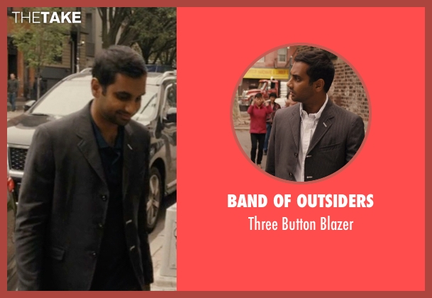 Band Of Outsiders gray blazer from Master of None seen with Dev (Aziz Ansari)
