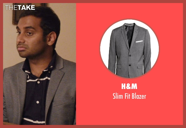 H&M gray blazer from Master of None seen with Dev (Aziz Ansari)