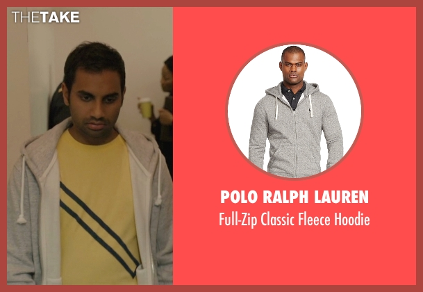 Polo Ralph Lauren gray hoodie from Master of None seen with Dev (Aziz Ansari)