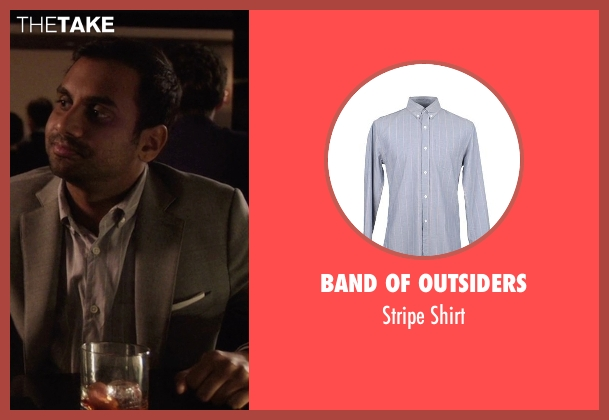 Band Of Outsiders gray shirt from Master of None seen with Dev (Aziz Ansari)