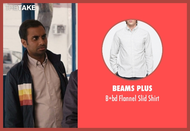 Beams Plus gray shirt from Master of None seen with Dev (Aziz Ansari)