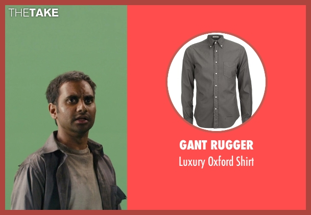 Gant Rugger gray shirt from Master of None seen with Dev (Aziz Ansari)