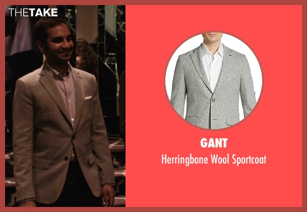 Gant gray sportcoat from Master of None seen with Dev (Aziz Ansari)