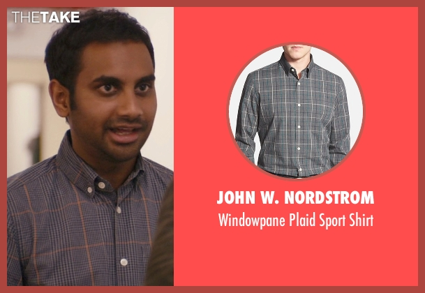 John W. Nordstrom gray sport shirt from Master of None seen with Dev (Aziz Ansari)