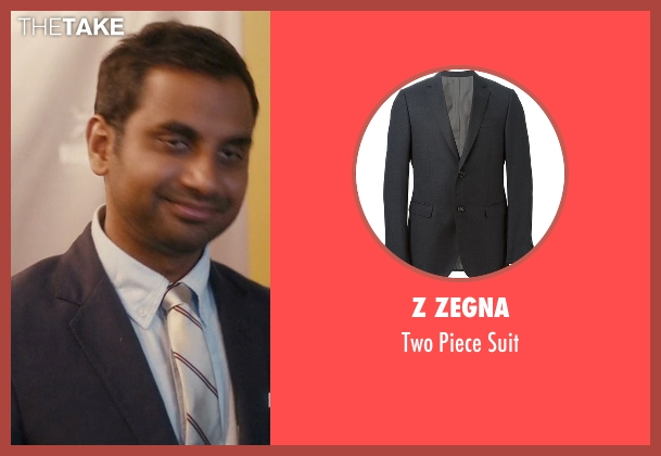 Z Zegna gray suit from Master of None seen with Dev (Aziz Ansari)