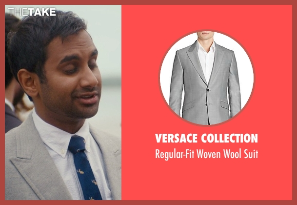 Versace Collection gray suit from Master of None seen with Dev (Aziz Ansari)