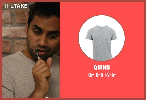 Quinn gray t-shirt from Master of None seen with Dev (Aziz Ansari)