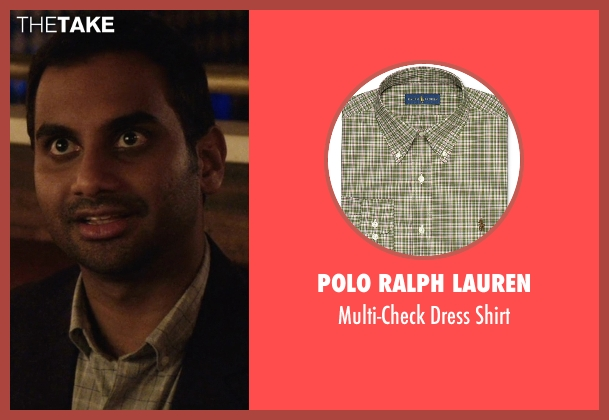 Polo Ralph Lauren green shirt from Master of None seen with Dev (Aziz Ansari)