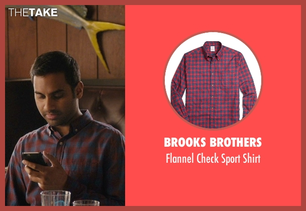 Brooks Brothers red shirt from Master of None seen with Dev (Aziz Ansari)