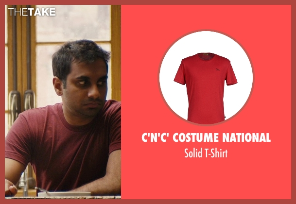 C'N'C' Costume National red t-shirt from Master of None seen with Dev (Aziz Ansari)